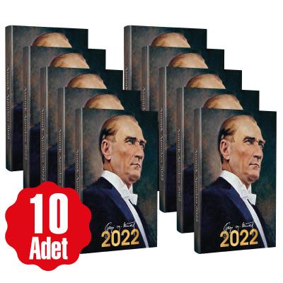 10 Adet - 2022 Atatürk Ajandası - Gazi