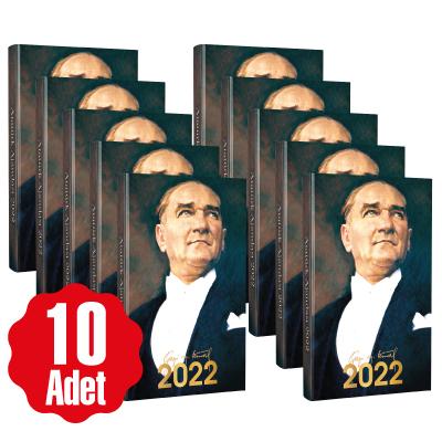 10 Adet - 2022 Atatürk Ajandası - Ulu Önder