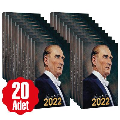 20 Adet - 2022 Atatürk Ajandası - Gazi
