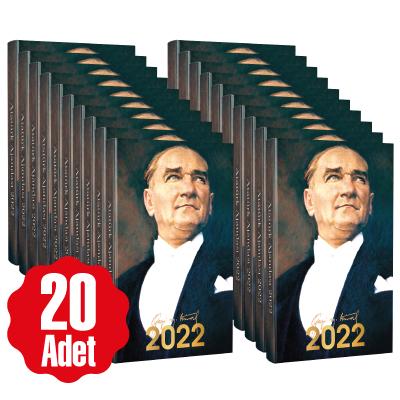 20 Adet - 2022 Atatürk Ajandası - Ulu Önder