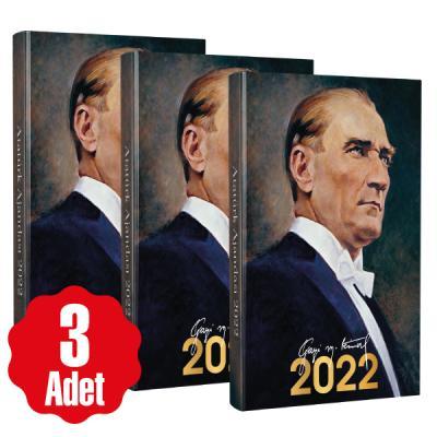 - 3 Adet - 2022 Atatürk Ajandası - Gazi | Sözcü Kitabevi
