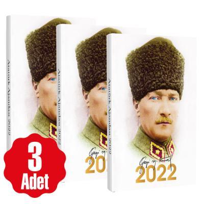 3 Adet - 2022 Atatürk Ajandası - Kalpaklı