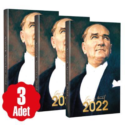 3 Adet - 2022 Atatürk Ajandası - Ulu Önder