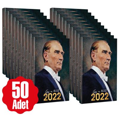 50 Adet - 2022 Atatürk Ajandası - Gazi