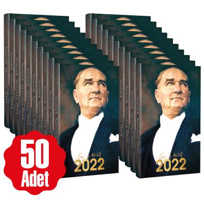 50 Adet - 2022 Atatürk Ajandası - Ulu Önder