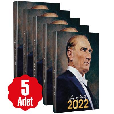 5 Adet - 2022 Atatürk Ajandası - Gazi
