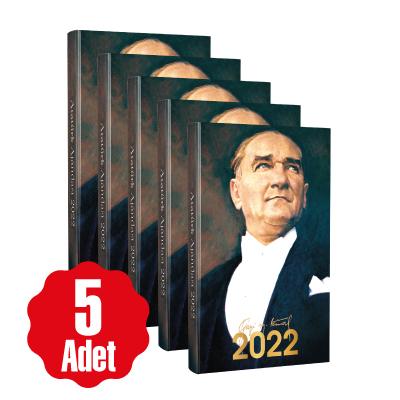 - 5 Adet - 2022 Atatürk Ajandası - Ulu Önder | Sözcü Kitabevi