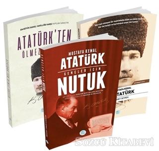 Mustafa Kemal Atatürk - Atatürkten Ölmez Sözler, Gençler İçin Nutuk, Mustafa Kemal Atatürk Biyografi (3 Kitap Takım) | Sözcü Kitabevi