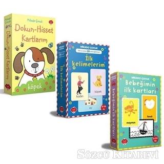 Kolektif - Bebeğimin Zeka Kartları Seti - 3 Kitap Takım | Sözcü Kitabevi