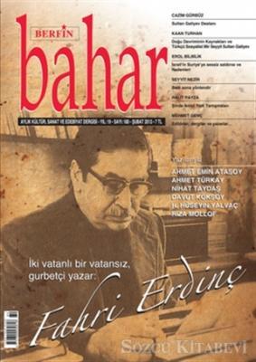 Berfin Bahar Aylık Kültür, Sanat ve Edebiyat Dergisi Sayı : 180