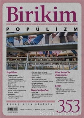 Kolektif - Birikim Aylık Sosyalist Kültür Dergisi Sayı: 353 Eylül 2018 | Sözcü Kitabevi