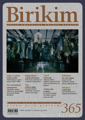 Kolektif - Birikim Aylık Sosyalist Kültür Dergisi Sayı: 365 Eylül 2019 | Sözcü Kitabevi