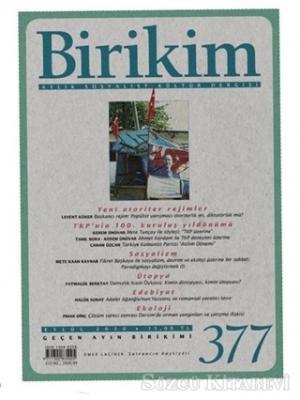 Kolektif - Birikim Aylık Sosyalist Kültür Dergisi Sayı: 377 Eylül 2020   Sözcü Kitabevi