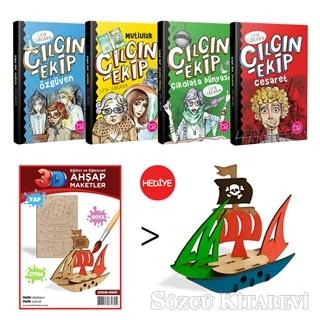 Kolektif - Çılgın Ekip 4 Kitap Takım (Korsan Gemisi 3D Ahşap Maket Hediyeli)   Sözcü Kitabevi