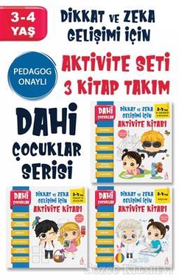 Dahi Çocuklar Serisi Aktivite Seti 3-4 Yaş – (3 Kitap Takım)