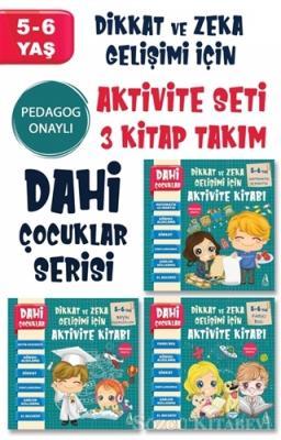 Dahi Çocuklar Serisi Aktivite Seti 5-6 Yaş (3 Kitap Takım)