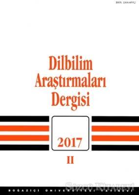 Dilbilim Araştırmaları Dergisi 2017 - 2
