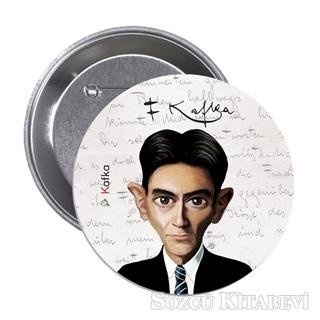 Franz Kafka Karikatür - Rozet