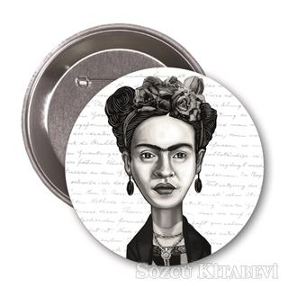 Frida Kahlo (Karikatür) - Rozet