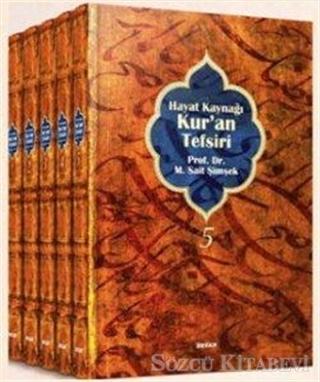 M. Sait Şimşek - Hayat Kaynağı Kur'an Tefsiri Normal Boy (5 Kitap Takım Kutulu)   Sözcü Kitabevi