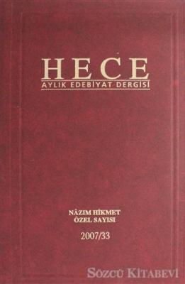 Hece Aylık Edebiyat Dergisi Nazım Hikmet Özel Sayısı Sayı: 13 - 121 (Ciltli) 2 Farklı Renk