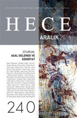 Hece Aylık Edebiyat Dergisi Sayı : 240 - Aralık 2016