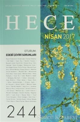 Hece Aylık Edebiyat Dergisi Sayı: 244 - Nisan 2017