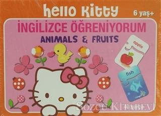 Hello Kitty İngilizce Öğreniyorum Animals and Fruits 40 Parça Puzzle