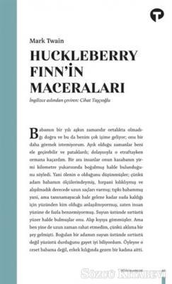 Mark Twain - Huckleberry Finn'in Maceraları | Sözcü Kitabevi