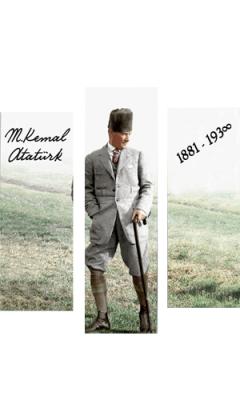 Mustafa Kemal Atatürk Görselli Ahşap Magnet