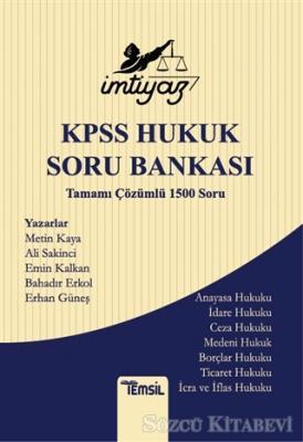 İmtiyaz KPSS Hukuk Soru Bankası Tamamı Çözümlü 1500 Soru