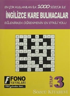 İngilizce Kare Bulmacalar 3. Kitap