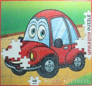 Kırmızı Arabam - 48 Parça Puzzle