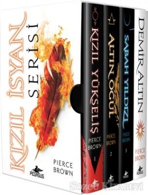 Pierce Brown - Kızıl İsyan Serisi (4 Kitap Takım Ciltli Kutulu Özel Set) | Sözcü Kitabevi
