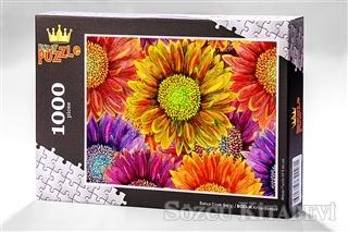 Krizantemler (1000 Parça) - Ahşap Puzzle Bahçe Çiçek Serisi (BC03-M)