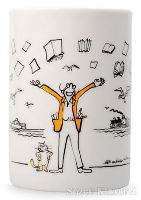 Can Dükkan Kupa (Porselen) - Vapurlu Kedili Adam
