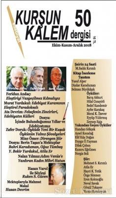 Kurşun Kalem Üç Aylık Edebiyat Dergisi Sayı: 50 Ekim-Kasım -Aralık 2018