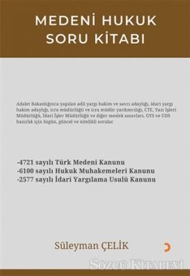 Süleyman Çelik - Medeni Hukuk Soru Kitabı | Sözcü Kitabevi