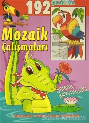Mozaik Çalışmaları 192 Çıkartma -  Orman Hayvanları