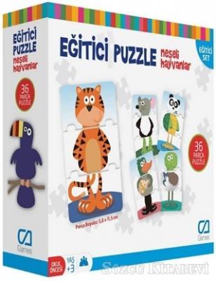 CA Games Neşeli Hayvanlar - Eğitici Puzzle