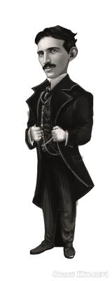 - Nikola Tesla (Karikatür) - Ayraç | Sözcü Kitabevi