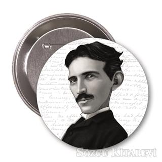 Nikola Tesla (Karikatür) - Rozet