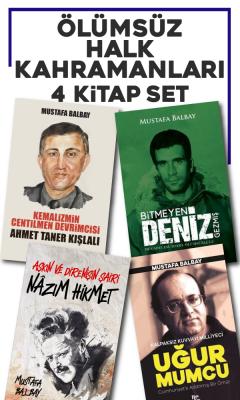 Mustafa Balbay - Ölümsüz Halk Kahramanları 4 Kitap Set | Sözcü Kitabevi