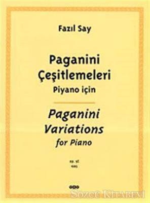 Paganini Çeşitlemeleri Piyano İçin Paganini Variations For Piano