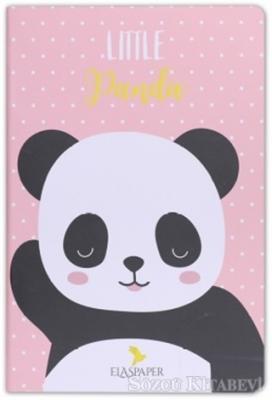 Panda Little Pembe Defter