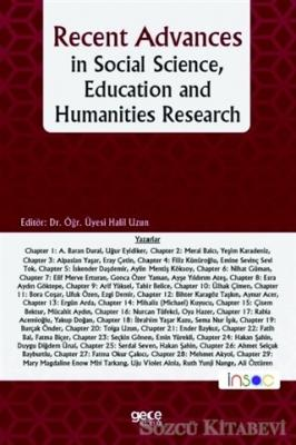 Recent Advances in Social Science, Education and Humanities Research