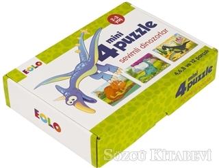 Sevimli Dinozorlar - 4 Mini Puzzle