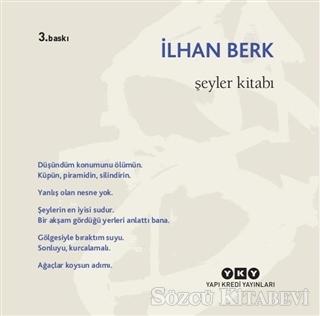 İlhan Berk - Şeyler Kitabı | Sözcü Kitabevi