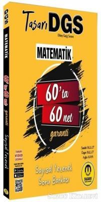 Tasarı 2021 DGS Matematik 60'ta 60 Net Sayısal Yetenek Soru Bankası Video Çözümlü