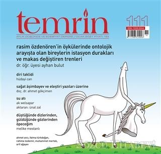 Temrin Aylık Düşünce ve Edebiyat Dergisi Sayı: 111 Ocak 2021